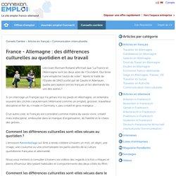France - Allemagne : des différences culturelles au quotidien et au travail