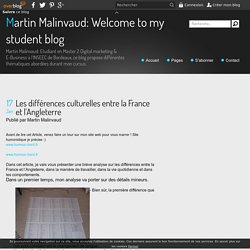 Les différences culturelles entre la France et l'Angleterre - Martin Malinvaud: Welcome to my student blog