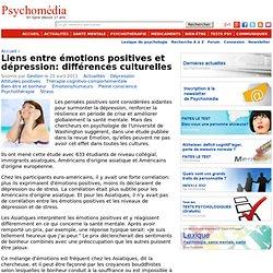 Liens entre émotions positives et dépression: différences culturelles