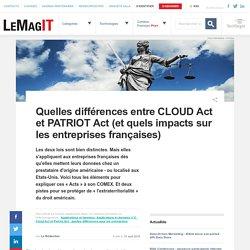 Quelles différences entre CLOUD Act et PATRIOT Act (et quels impacts sur les entreprises françaises)