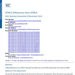 HTML5 differences from HTML4