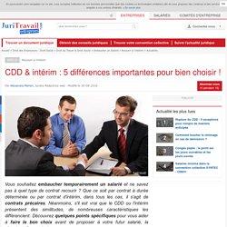 CDD & intérim : 5 différences importantes pour bien choisir !