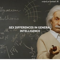 Sex Differences in General Intelligence