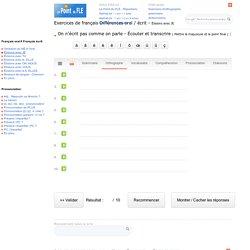 Différences oral écrit - Élision - Exercices interactifs de français