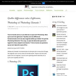 Différences entre Lightroom, Photoshop et Photoshop Elements