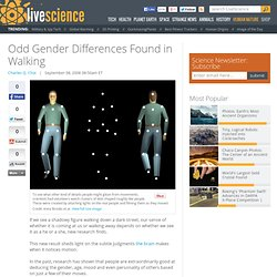 Odd Gender Differences Found in Walking