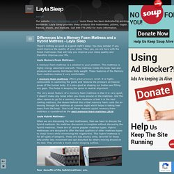 Differences b/w a Memory Foam Mattress and a Hybrid Mattress - Layla Sleep - Layla Sleep
