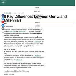 8 Key Differences between Gen Z and Millennials