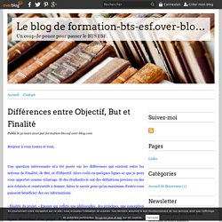 Différences entre Objectif, But et Finalité - Le blog de formation-bts-esf.over-blog.com
