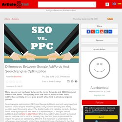 Differences Between Google AdWords And Search Engine Optimization Article - ArticleTed - News and Articles