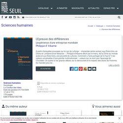 L'Epreuve des différences, Philippe d' Iribarne, Sciences humaines - Seuil
