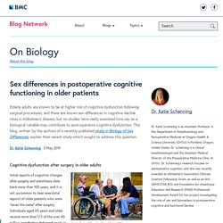 Sex differences in postoperative cognitive functioning in older patients