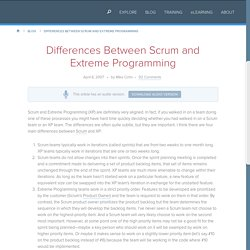 Differences Between Scrum and Extreme Programming