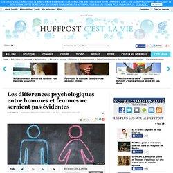 Les différences psychologiques entre hommes et femmes ne seraient pas évidentes