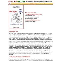 1001 différences hommes-femmes, Y. Dallaire, Psychologue, sexologue