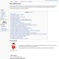 Nos différences - Quartier Japon Wiki