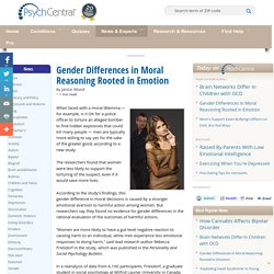 Gender Differences in Moral Reasoning Rooted in Emotion