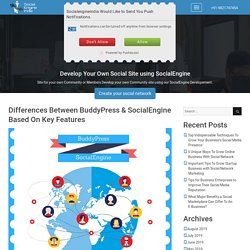 Differences Between BuddyPress & SocialEngine Based On Key Features