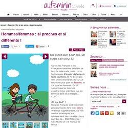 Temps libre : profiter de son temps libre - Différences hommes femmes: statistiques sur les rapports hommes femmes