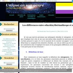 Les différences entre otherkin/thérianthrope et xénogenre - Unique en son genre