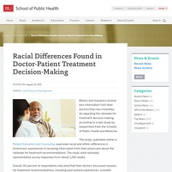Racial Differences in Health Care Decision-Making