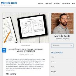 Les différences entre zoning, wireframe, mockup et prototype – Marc de Zordo