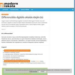 Differenciálás digitális oktatás idején (is)
