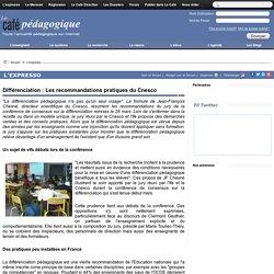 Différenciation : Les recommandations pratiques du Cnesco