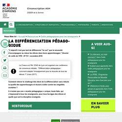 Actualité pédagogique et didactique > La différenciation pédagogique