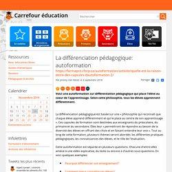 La différenciation pédagogique: autoformation