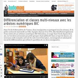 Différenciation et classes multi-niveaux avec les ardoises numériques BIC