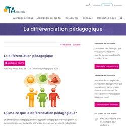 La différenciation pédagogique - TA@l'école