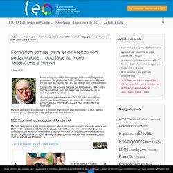 Formation par les pairs et différenciation pédagogique : reportage au lycée Joliot-Curie à Hirson