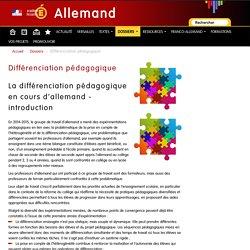 Différenciation pédagogique - Allemand
