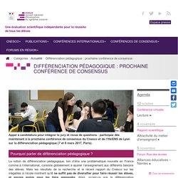 Différenciation pédagogique : prochaine conférence de consensus