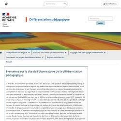 Différenciation pédagogique - Accueil