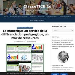 Le numérique au service de la différenciation pédagogique, un mur de ressources – ClasseTICE 1d
