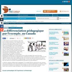 La différenciation pédagogique par l'exemple, au Canada
