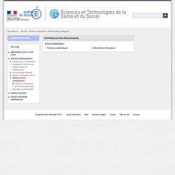 Différenciation pédagogique - Sciences et Technologies de la Santé et du Social