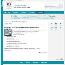 QR codes et différenciation en langues vivantes-Langues vivantes-Éduscol