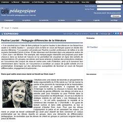 Pauline Lourdel : Pédagogie différenciée de la littérature