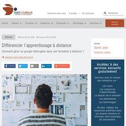 Différencier l'apprentissage à distance - Thot Cursus