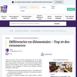 mars Différencier en élémentaire - Top 10 des ressources