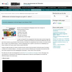 Différencier la lecture longue au cycle 3 - série 1 - MDE du Val-d'Oise (CDDP 95) - 3283