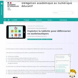 Exploiter la tablette pour différencier en mathématiques