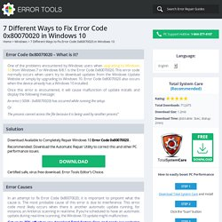 7 Different Ways to Fix Error Code 0x80070020 in Windows 10 - Windows Error Support