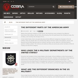 The different parts of the American army