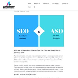 ASO and SEO Are More Different Than You Think and Here's How to Leverage Both - Appkineticsllc