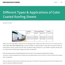 Different Types & Applications of Color Coated Roofing Sheets