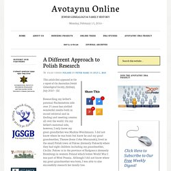 A Different Approach to Polish Research - Avotaynu Online